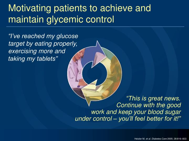 Motivating patients to achieve and maintain glycemic control