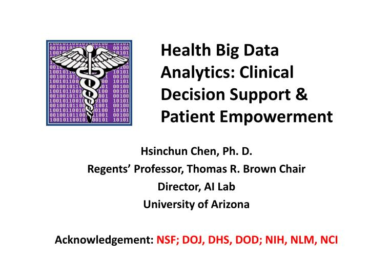 health big data analytics clinical decision support patient empowerment n.
