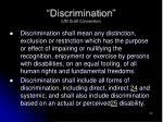 discrimination un draft convention