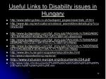useful links to disability issues in hungary