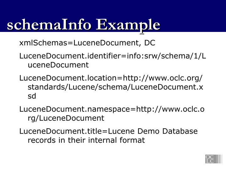 schemaInfo Example