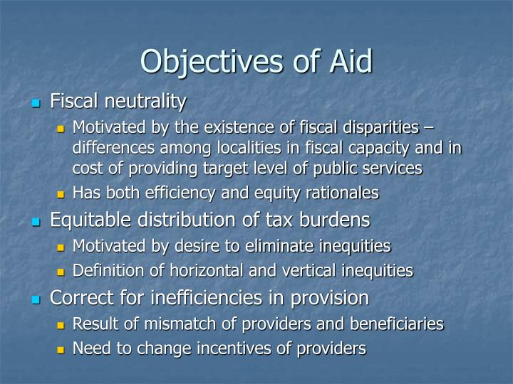 Objectives of Aid