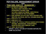 pep failure management error 1994