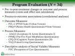 program evaluation n 34