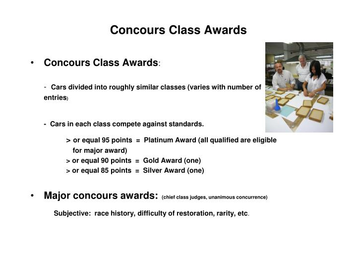 Concours class awards