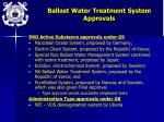 ballast water treatment system approvals