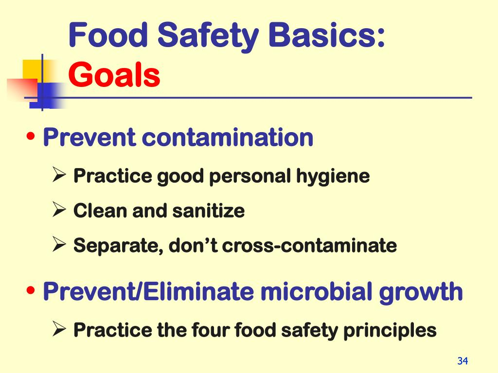 PPT - Food Safety Basics for Residential Child Care