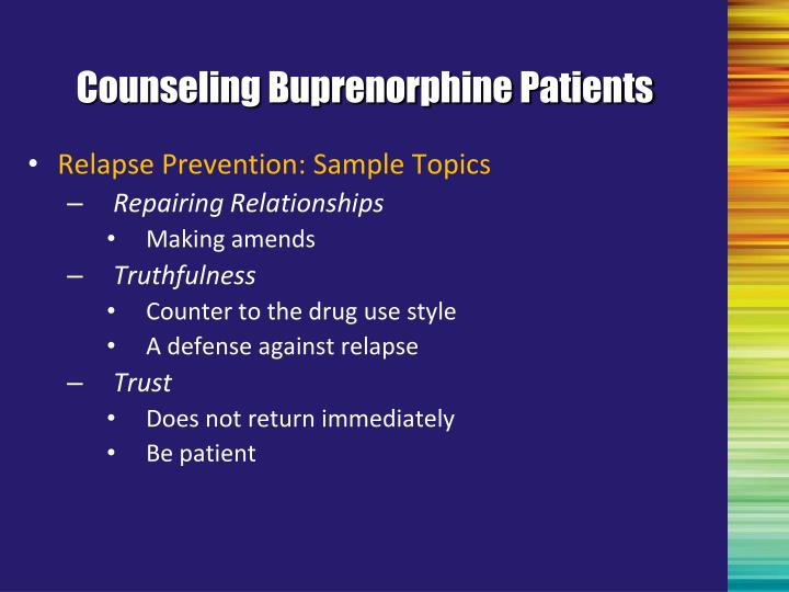 Counseling Buprenorphine Patients