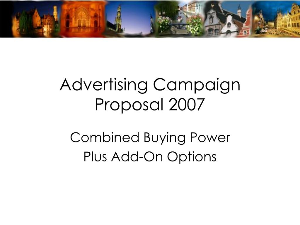 proposal for advertising campaign