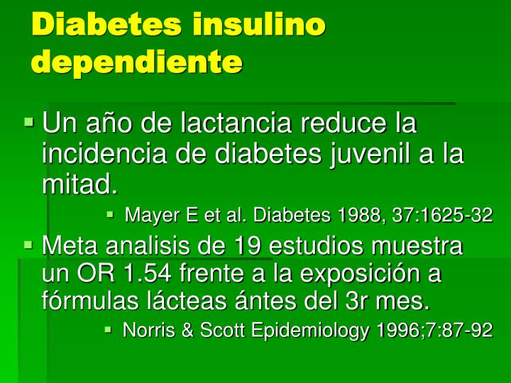 Diabetes insulino dependiente