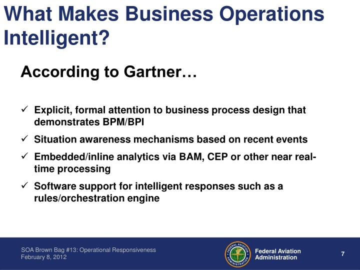 What Makes Business Operations Intelligent?