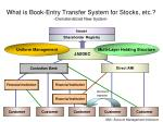 what is book entry transfer system for stocks etc dematerialized new system