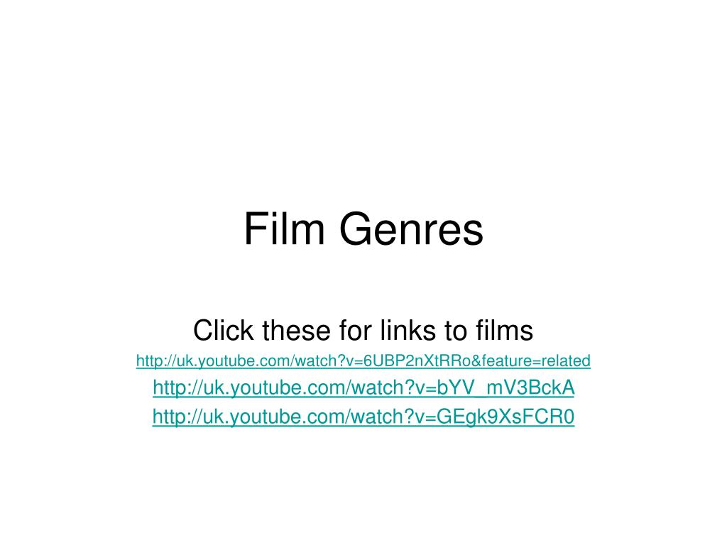 Film genres and their features