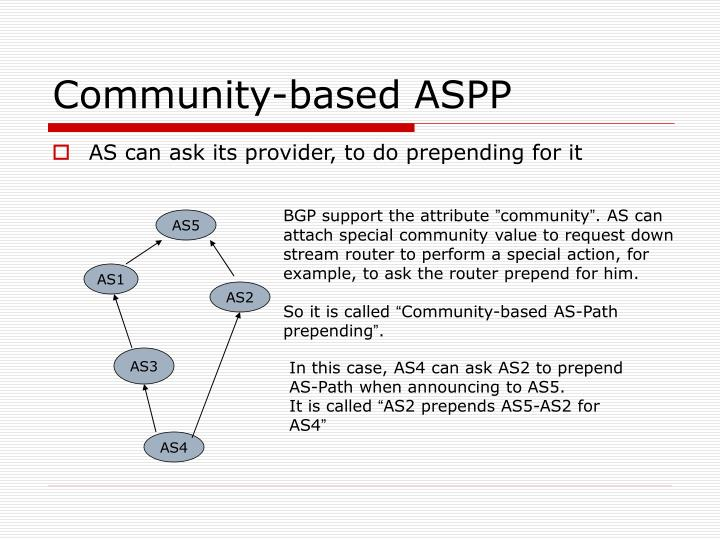 Community-based ASPP