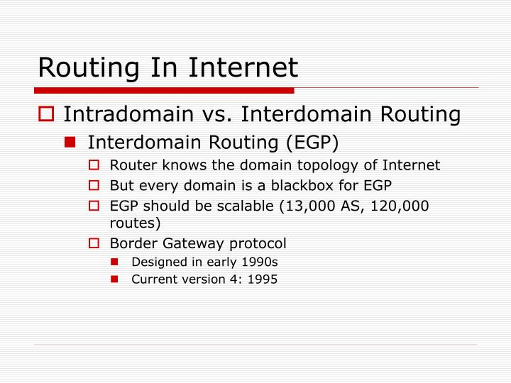 Routing In Internet