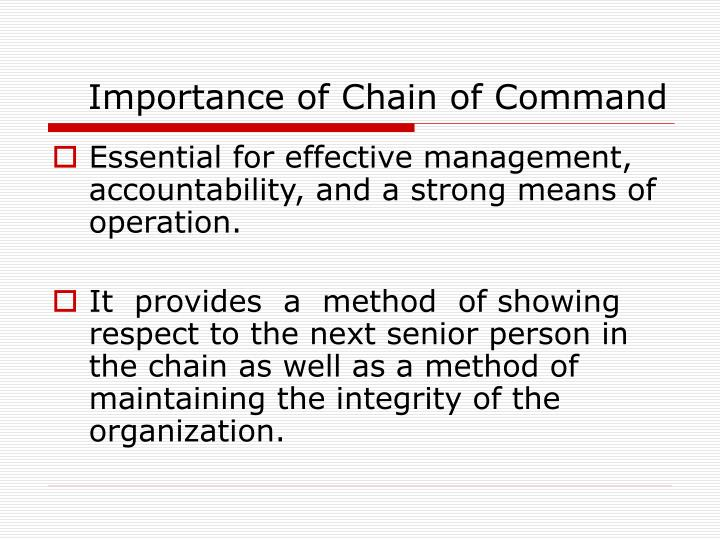 importance of chain of command