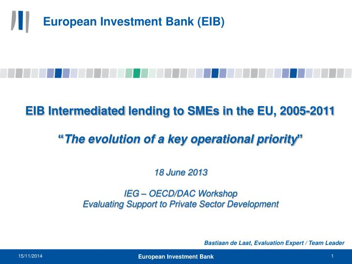 european investment bank eib