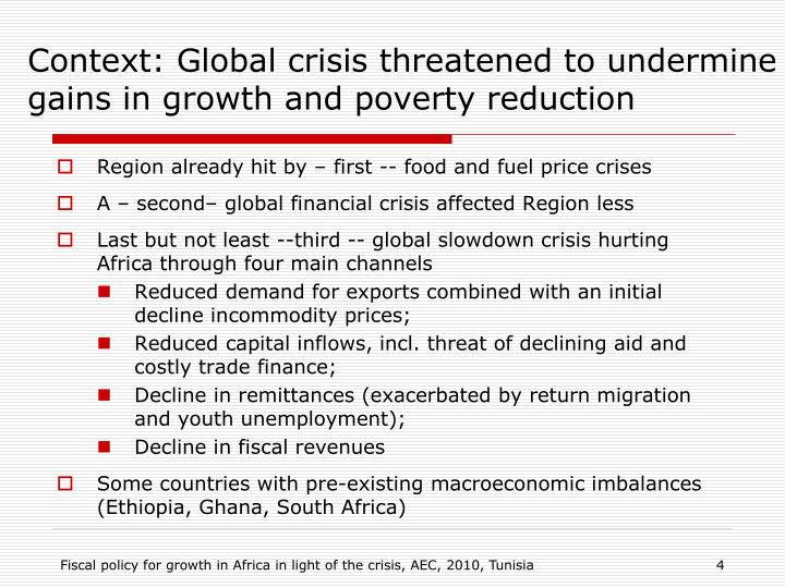revisiting growth and poverty reduction in