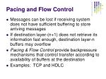 pacing and flow control