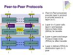 peer to peer protocols
