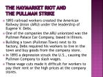 the haymarket riot and the pullman strike1