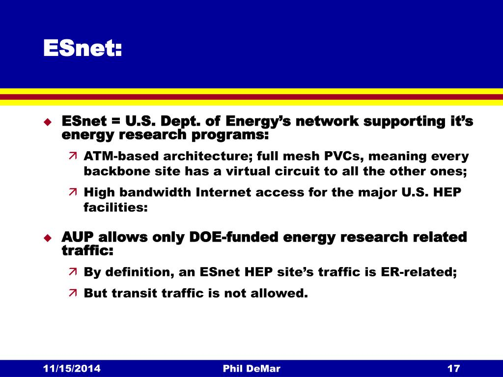 PPT - Research & Academic Networks in the US PowerPoint
