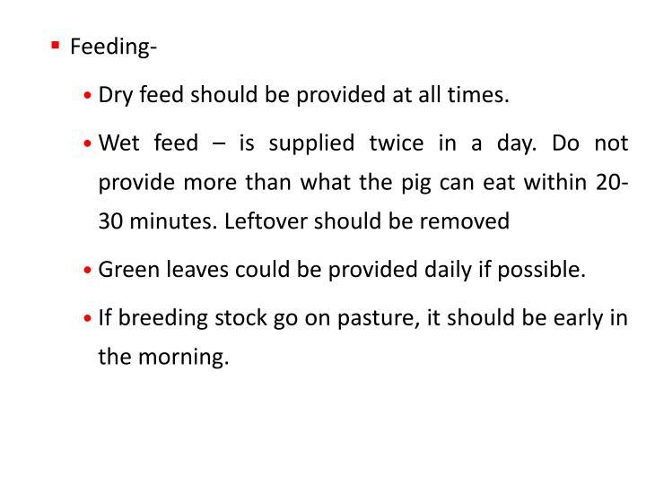 Feeding-