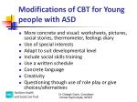 modifications of cbt for young people with asd