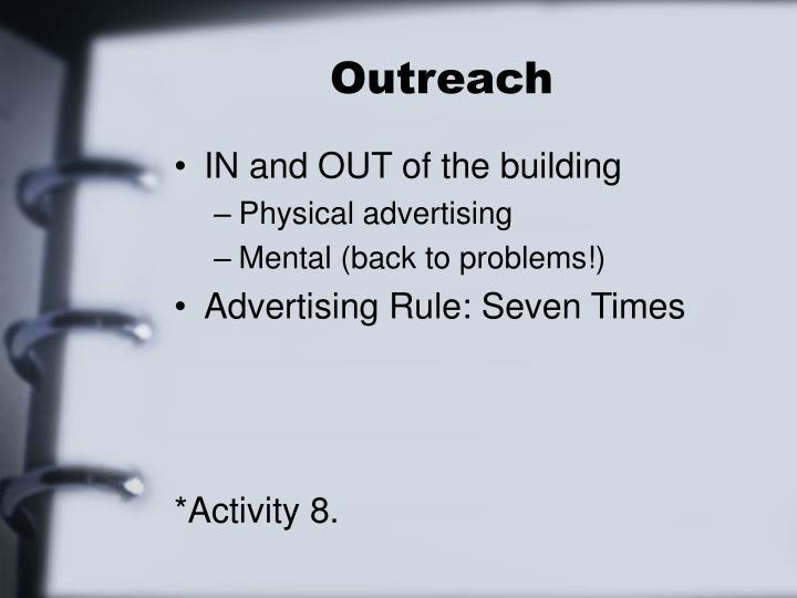 Outreach