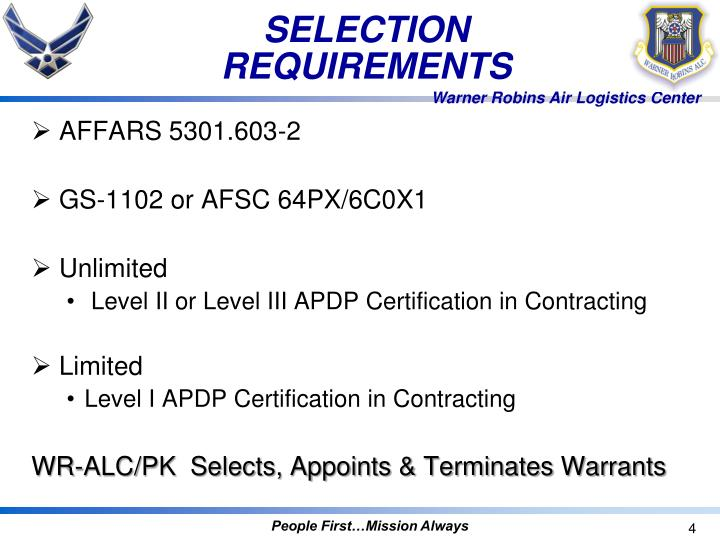 PPT - Air Force Contracting Officer Warrant Procedures PowerPoint ...