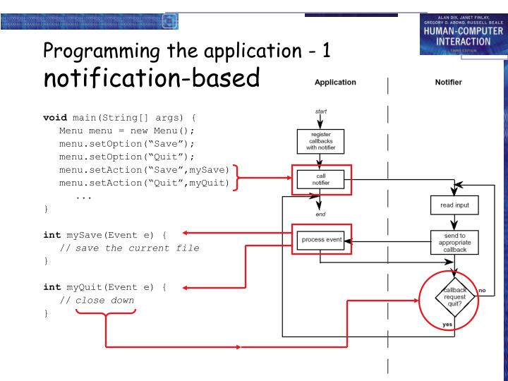 Programming the application - 1