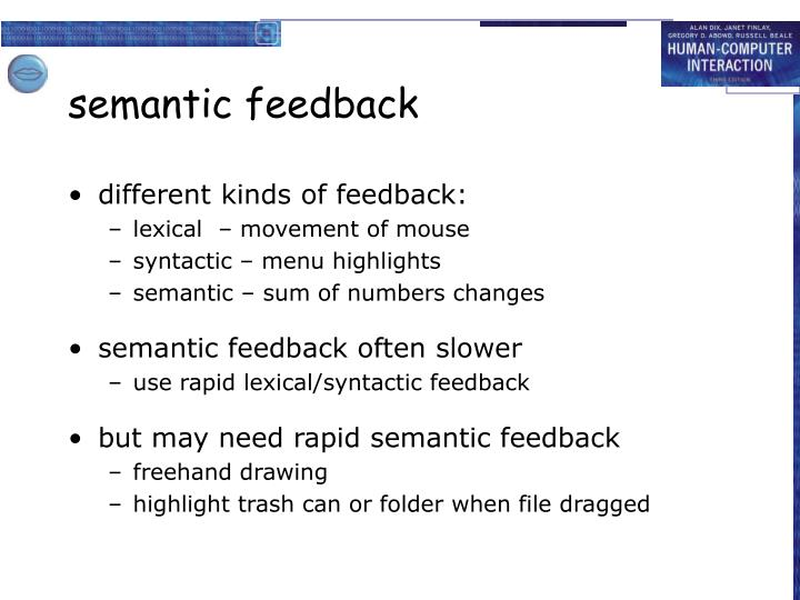 semantic feedback