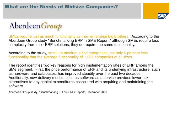 What are the Needs of Midsize Companies?