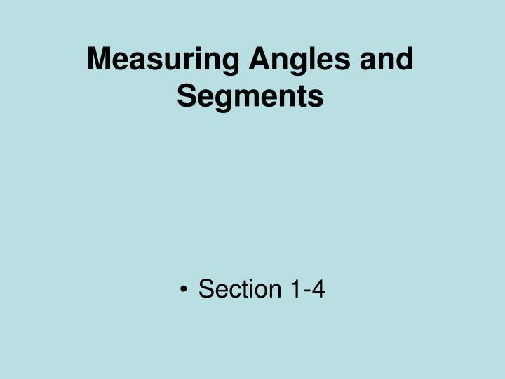 measuring angles and segments n.