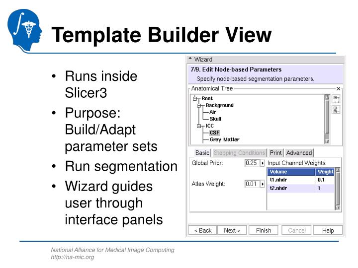 Template Builder View