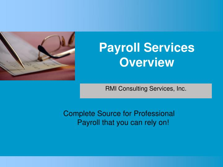 payroll services overview n.