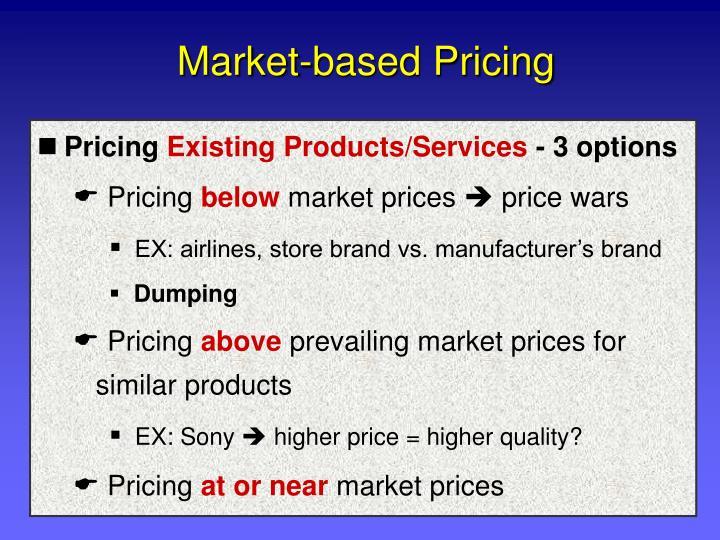Market-based Pricing