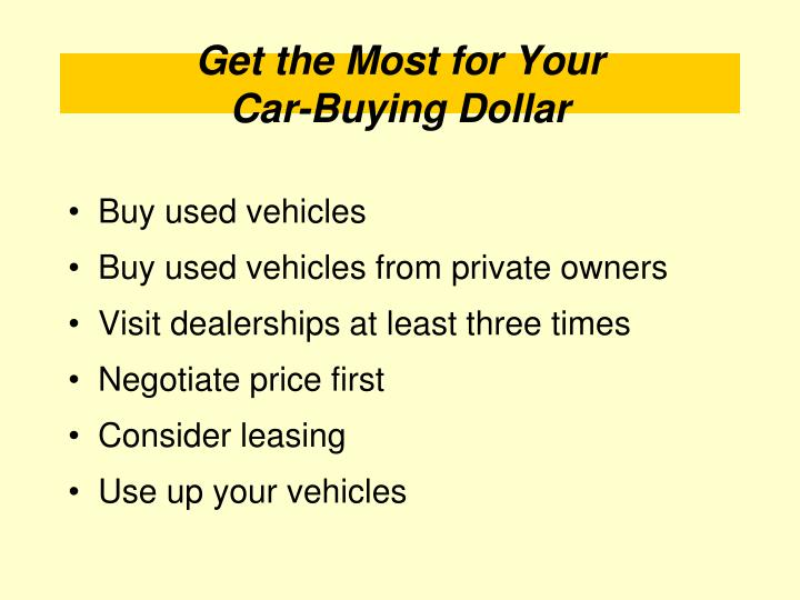 Buy used vehicles