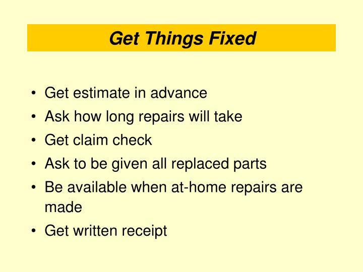 Get estimate in advance
