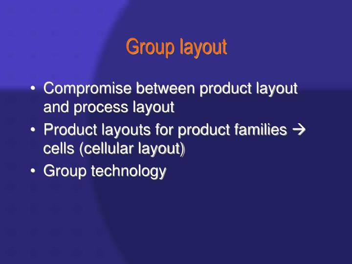 Group layout