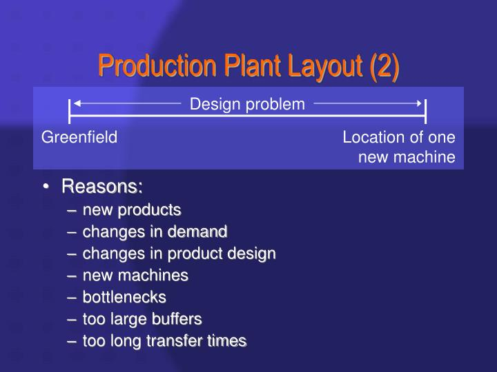 Production plant layout 2