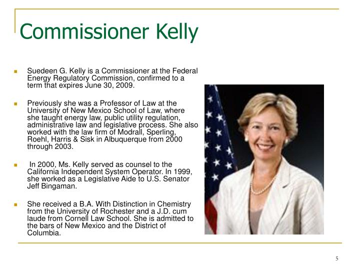 Commissioner Kelly