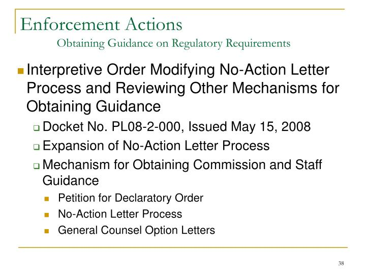 Enforcement Actions