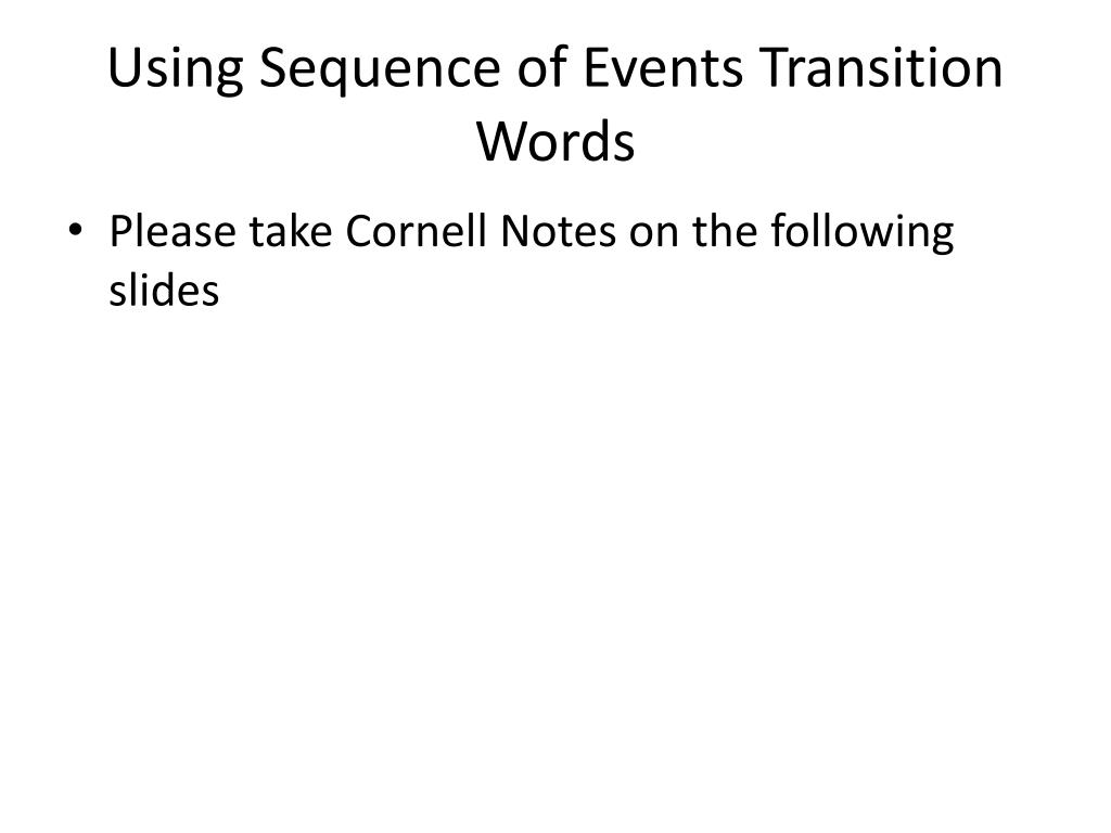 ppt using sequence of events transition words powerpoint