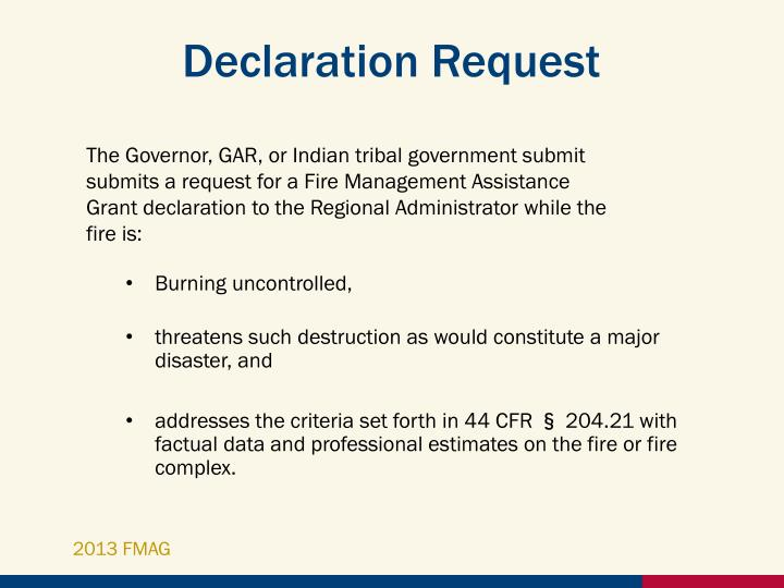 Declaration Request