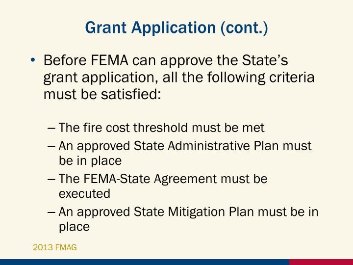 Grant Application (cont.)