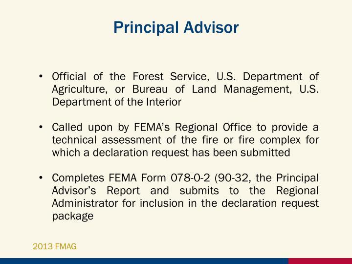 Principal Advisor
