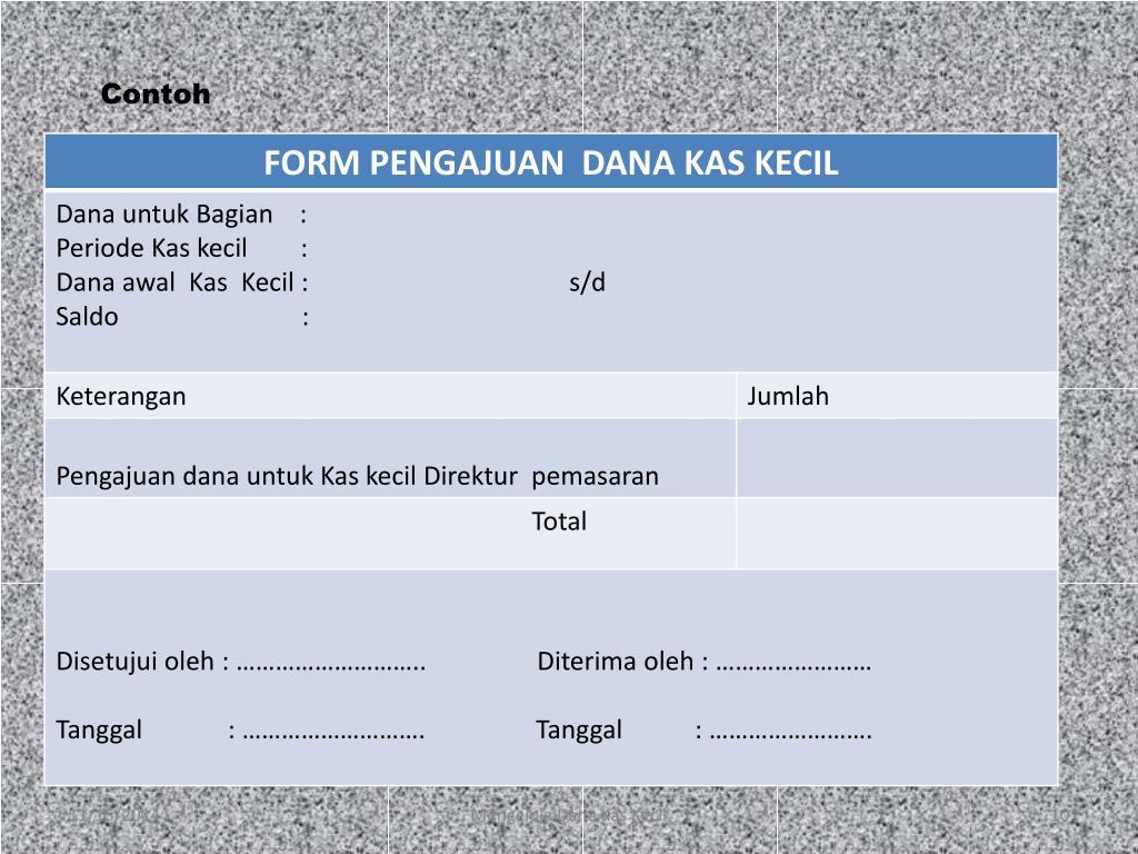 Ppt Mengelola Dana Kas Kecil Powerpoint Presentation Free Download Id 6662073