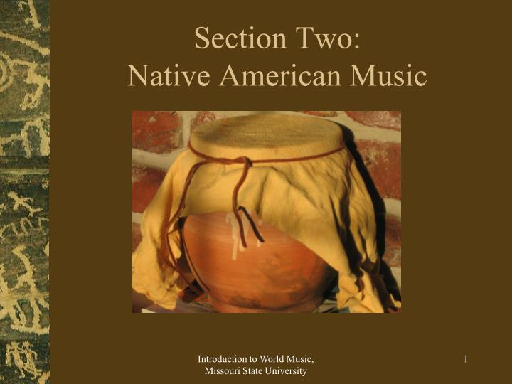 section two native american music n.
