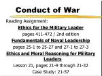 conduct of war1